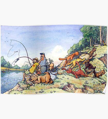 Summer fishing. Big catch Poster