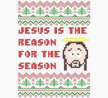Jesus is The Reason for The Season Ugly Christmas Sweater Men's Baseball ¾ T-Shirt