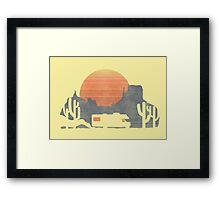 Trail of the dusty road Framed Print