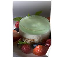 Woodruff tartlet with lime sorbet h Poster
