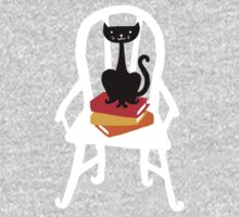 Still life with cat, chair, and book Kids Clothes