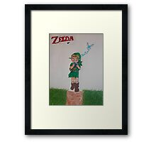 Link with Ocarina Framed Print