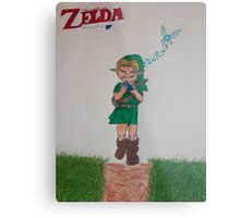 Link with Ocarina Metal Print