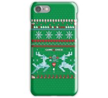 Game Over - 8-bit Ugly Christmas Sweater iPhone Case/Skin