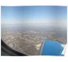Airplane View of Maryland Poster