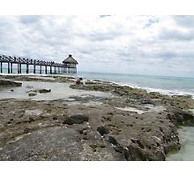 Ocean and Pier View Photographic Print