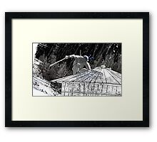Ninja Turtle Leonardo in the Rain Framed Print