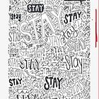Mayday Parade: Stay Song Lyrics - iPhone Case  by sullat04