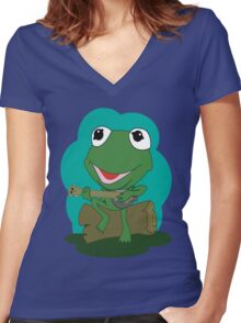 Kermie Women's Fitted V-Neck T-Shirt