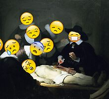 The Anatomy Lesson of Dr. Nicolaes Tulp - Rembrandt by Emojinal Art
