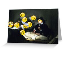 The Anatomy Lesson of Dr. Nicolaes Tulp - Rembrandt Greeting Card