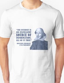Franklin Internet Quote T-Shirt
