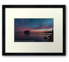 crawley bay sunset  Framed Print