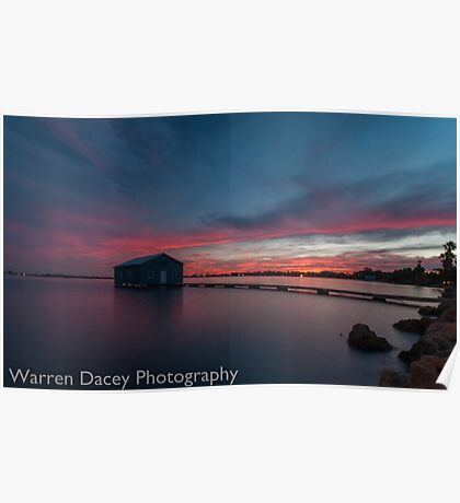 crawley bay sunset  Poster