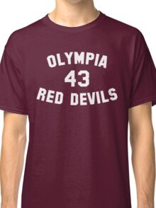 Olympia Red Devils - #43 - White Text Classic T-Shirt