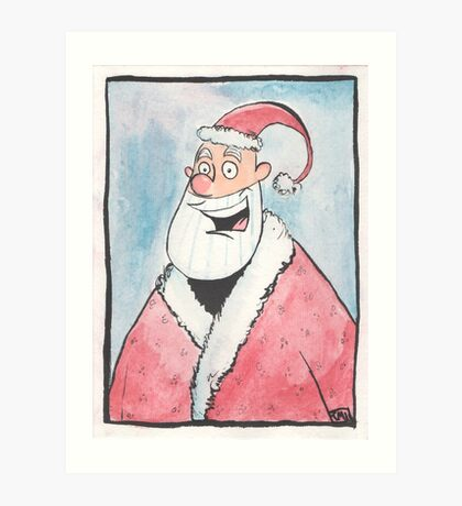 Santa Portrait  Art Print