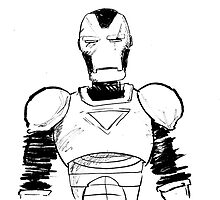 IronMan - Black & White by Trevor McCandless