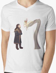 Dragon's Fire Mens V-Neck T-Shirt