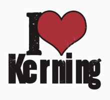 I Heart Kerning Kids Tee