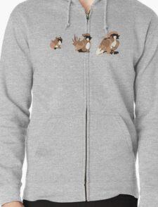 Bird Evolution Zipped Hoodie