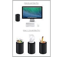Mac Pro Instructions Photographic Print