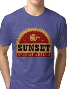 Sunset Sasparilla  Tri-blend T-Shirt