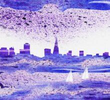 San Francisco Blues City Skyline Sticker