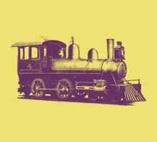 vintage train illustration by greenave