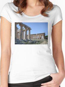 Paestum Women's Fitted Scoop T-Shirt