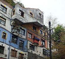 Hundertwasserhaus in Vienna by Lucinda Walter