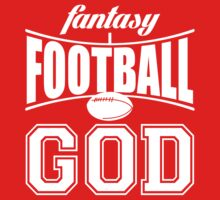 Fantasy Football God Men's Tee (white ink) by Max Effort