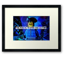 The pirate winter collection - blue Christmas. Framed Print