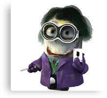 Joker minions Canvas Print