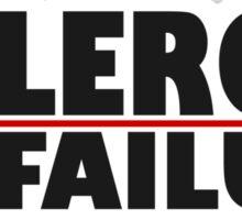 allergic to failure Sticker