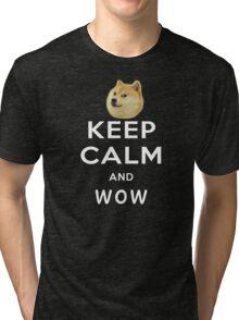 Keep Calm and DOGE Tri-blend T-Shirt