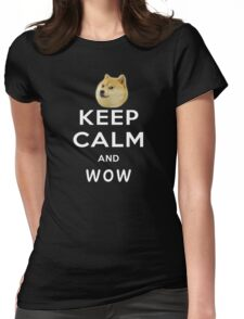 Keep Calm and DOGE Womens Fitted T-Shirt