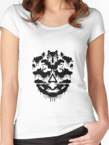 Bastille Dan Inkblot Women's Fitted Scoop T-Shirt