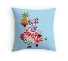 Cool Cow Love's A Pineapple!!! Throw Pillow