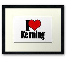 I Heart Kerning Framed Print