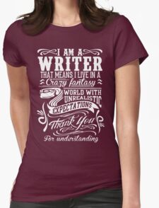 I AM A WRITER Womens Fitted T-Shirt