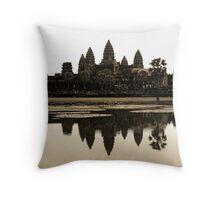 Angkor Wat at dawn Throw Pillow