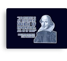 Franklin Internet Quote Canvas Print