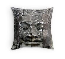 Face of the temple Throw Pillow