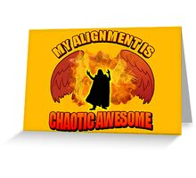 Chaotic Awesome Greeting Card