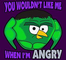 Angry Birds Hulk by RoamingGeek