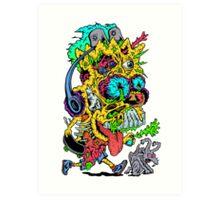 Toxic Bart Art Print