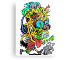Toxic Bart Metal Print