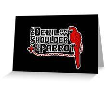 Shoulder Devil Parrot Greeting Card