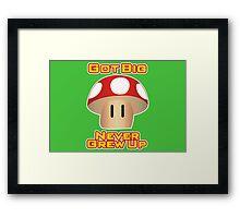 Super Mario Mushroom Framed Print