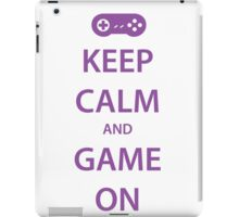 KEEP CALM and GAME ON (purple) iPad Case/Skin